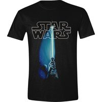 STAR WARS - SABER LOGO MEN T-SHIRT - ZWART easy-fit