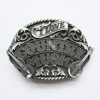 Western Country Music geborsteld Riem Gesp/Buckle