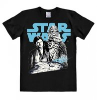 STAR WARS - SOLO - SOLO AND CHEWBACCA - T-SHIRT EASY FIT - Zwart