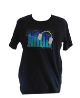 LED-T-Shirt-Equilizer blauw-Easy-Fit-Black