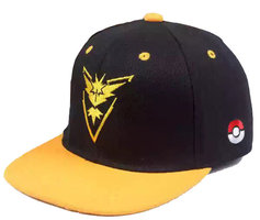 Pokemon go team Valor - Logo Zwart gele Pet