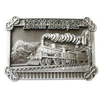 Trein Stoom Locomotief Iron Horse blanco Riem blanco Buckle/Gesp
