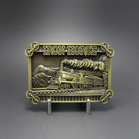 Trein Stoom Locomotief Iron Horse brons Riem blanco Buckle/Gesp