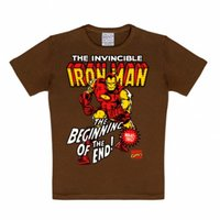 Iron Man Marvel Comics kinder t-shirt bruin