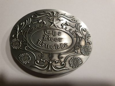 The Beer buckle  Gesp in Geborsteld Metal Riem Gesp/Buckle