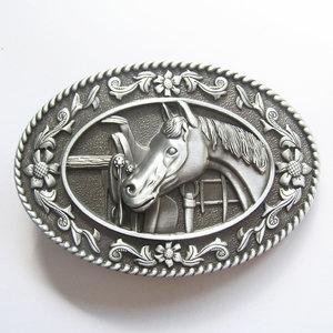 New Vintage Horse Head Saddle Western Riem Buckle/gesp