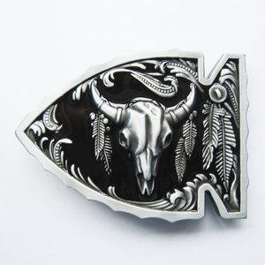 New Vintage Red Arrowhead Bull Western zwart Riem Buckle/gesp