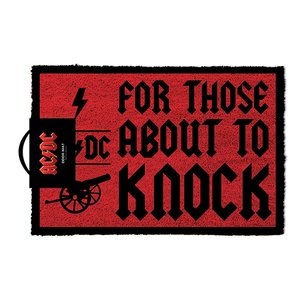 AC/DC - FOR THOSE WHO KNOCK DOOR MAT