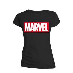 MARVEL - LOGO WOMEN T-SHIRT - BLACK