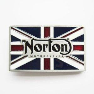 Norton Vintage Motorcycles Flag Biker Rider Riem Buckle/Gesp