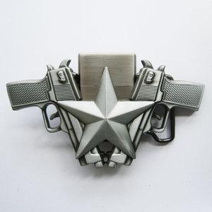 Aansteker 2 Pistolen Ster Mat Riem Gesp/Buckle