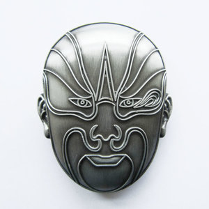 Original China Peking Opera Face Vintage  Riem Buckle/Gesp