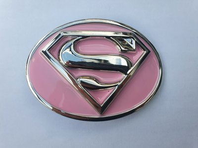 roze geëmailleerd superman buckle