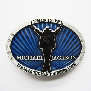 Michael Jackson-This is It-bleu-Riem-Buckle/Gesp