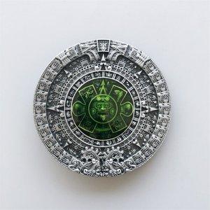 Azteekse Kalender groen Riem Buckle/Gesp