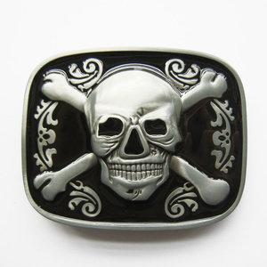 Skull Bones Jolly Roger Pirate zwart glazuur Riem Buckle/Gesp