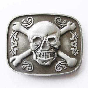 Skull Bones Jolly Roger Pirate As kleuri Riem Buckle/Gesp