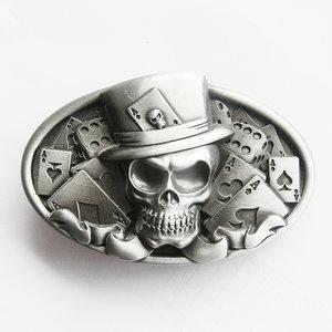 Dice Skull Tattoo As kleurig Riem Buckle/Gesp