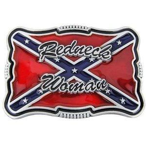 Redneck Woman Confederate Vlag Riem Buckle/Gesp