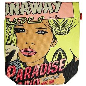 Pop Art Comic Paradise Roze Shopper