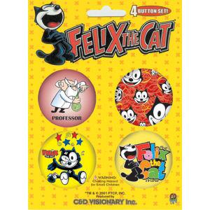 Felix the Cat Button Set