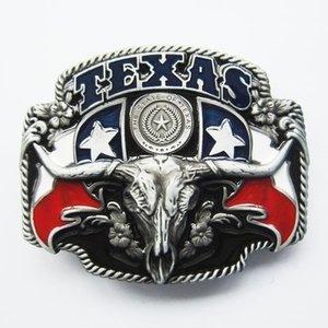 Texas State Flag Longhorn Riem Buckle/Gesp