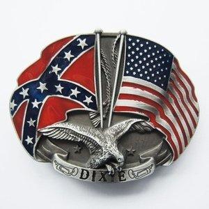 Adelaar Western Amerikaanse Vlag Riem Buckle/Gesp