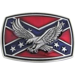 Confederate Adelaar Vlag Western Riem Buckle/Gesp