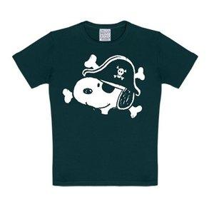 Peanuts - Snoopy Piraat - Zwart Kinder T-shirt