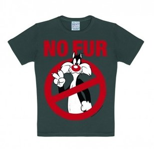 Looney Tunes - No Fur - Grijs Kinder T-shirt