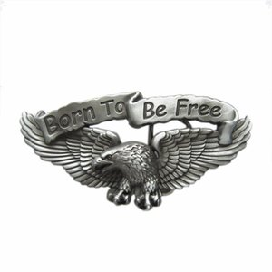 Born to Be Free Eagle Biker Rider Metal Riem Buckle/Gesp