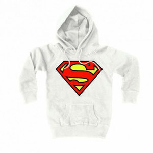 Superman - Unisex Witte Hooded Sweater