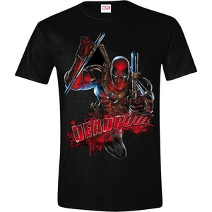 Deadpool - Attack - Heren Zwart T-shirt
