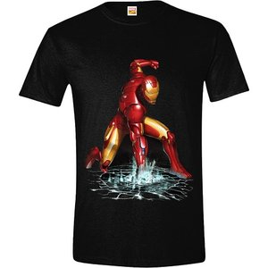 The Invincible Iron Man - Fist - Zwart Heren T-shirt