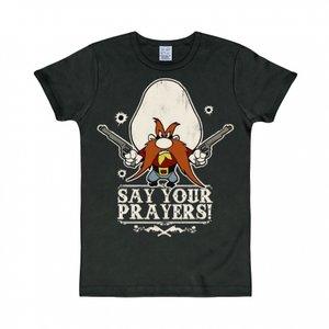 Looney Tunes - Say your Prayers - Zwart Heren slim-fit T-shirt