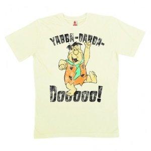 Fred Flintstones Yabba Dabba Dooooo! Heren Organic T-shirt wit