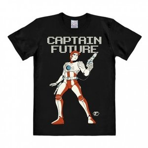 Captain Future - Zwart Heren easy-fit T-shirt