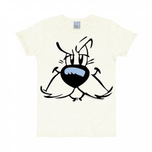 Asterix Idefix Face Heren slim-fit T-shirt wit