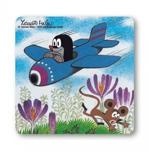 De Kleine Mol - In Het Vliegtuig - Onderzetter