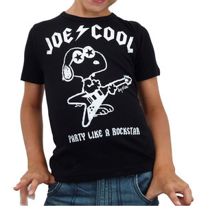 Peanuts - Snoopy Joe Cool - Rock - Zwart Kinder T-shirt