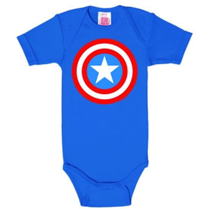Captain America - Shield - Marvel Baby Blauw Romper