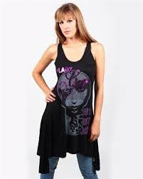 Lady Gaga - Dames Vintage Zwart Amplified Singlet