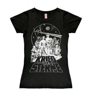 Star Wars Krieg der Sterne Dames Zwart T-shirt