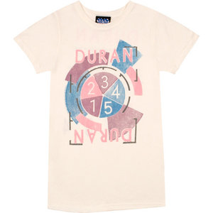 Duran Duran Tour Dames Roze Junk Food T-shirt