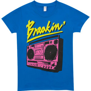 Boombox Breakin Dames Blauw T-shirt