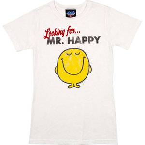 Little Miss Looking For Mr. Happy Dames Wit T-shirt