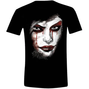 Batman - Arkham Knight - Harley Quinn Face - Heren Zwart T-shirt