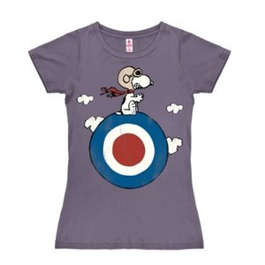Peanuts - Snoopy Target - Vintage Print - Dames Paars T-shirt