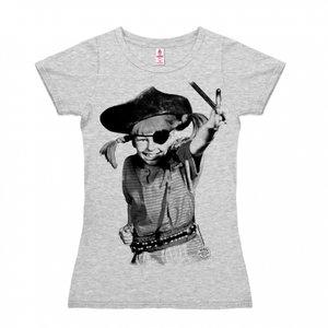 Pippi Langkous - Piraat - Dames Grijs T-shirt