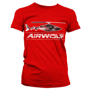 Airwolf Chopper Vintage Dames Rood T-shirt